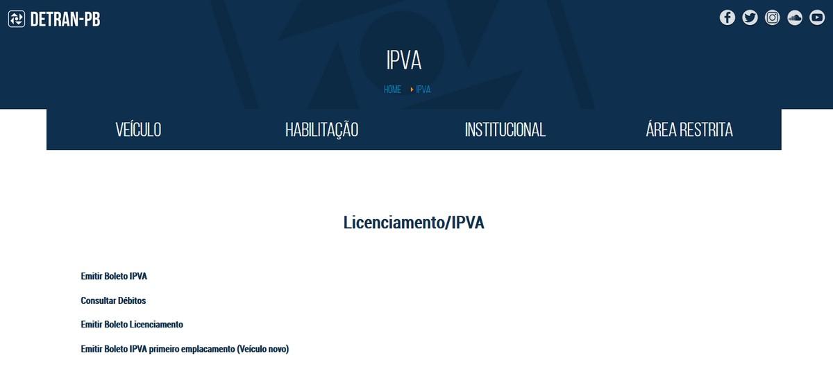 IPVA 2018 na Paraíba tem calendário publicado