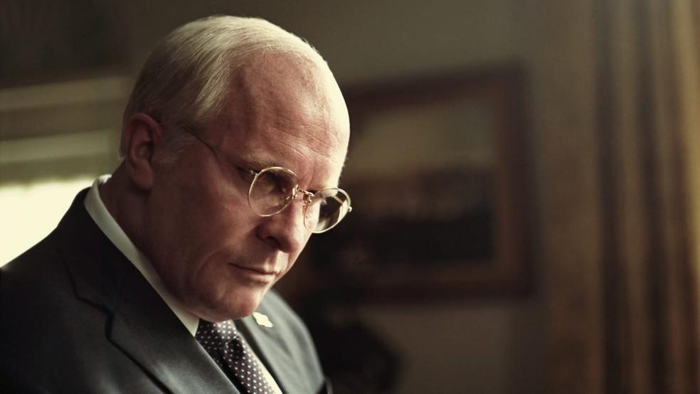 Vice tem Christian Bale como o ex-vice-presidente americano Dick Cheney — Foto: Divulgação