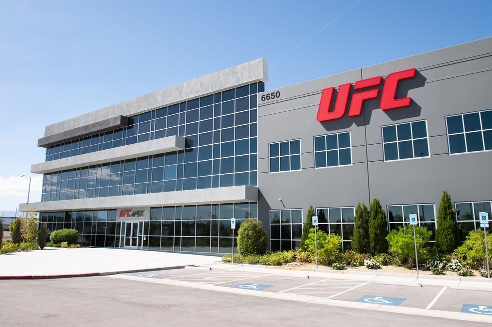 UFC Apex, estúdio da companhia em Las Vegas, sediará o evento do próximo sábado — Foto: Divulgação