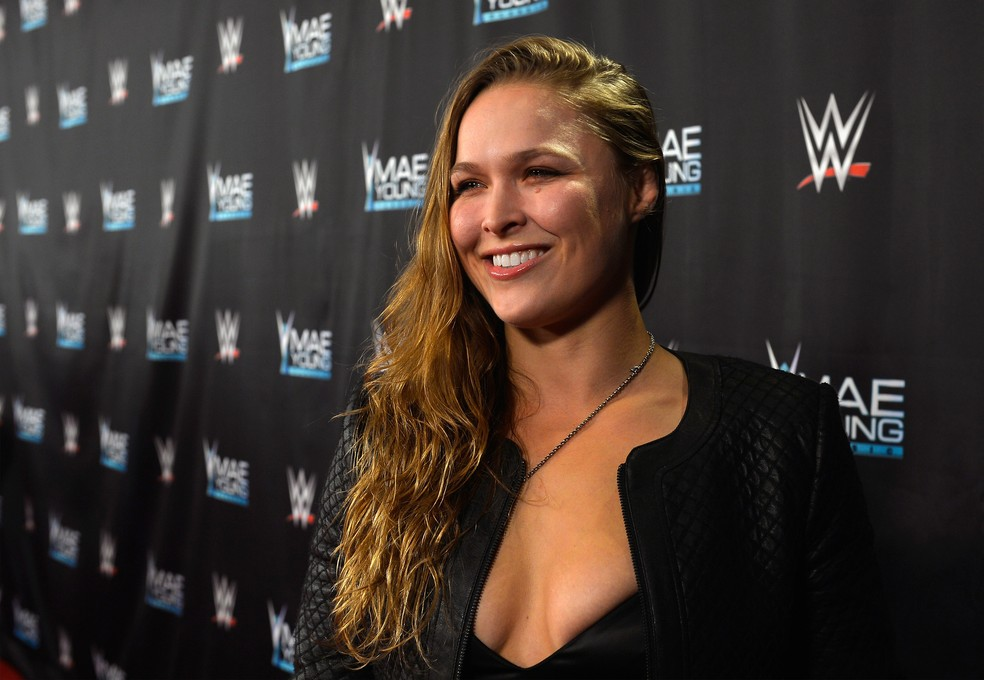 Ronda Rousey revelou estar feliz por poder se divertir enquanto atua no WWE (Foto: Getty Images)