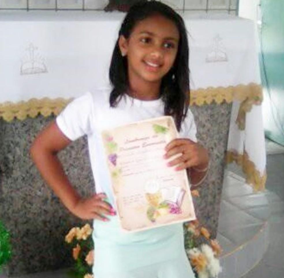 Menina de 11 anos morreu após tentar defender mãe de agressões na Bahia — Foto: Divulgação/Bahia10