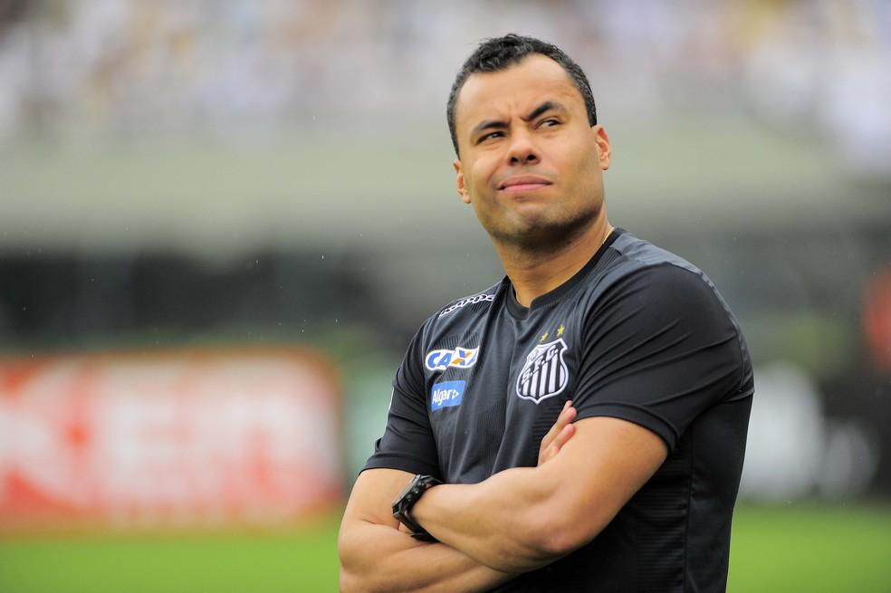 Jair Ventura durante o clássico contra o Corinthians (Foto: Marcos Ribolli)