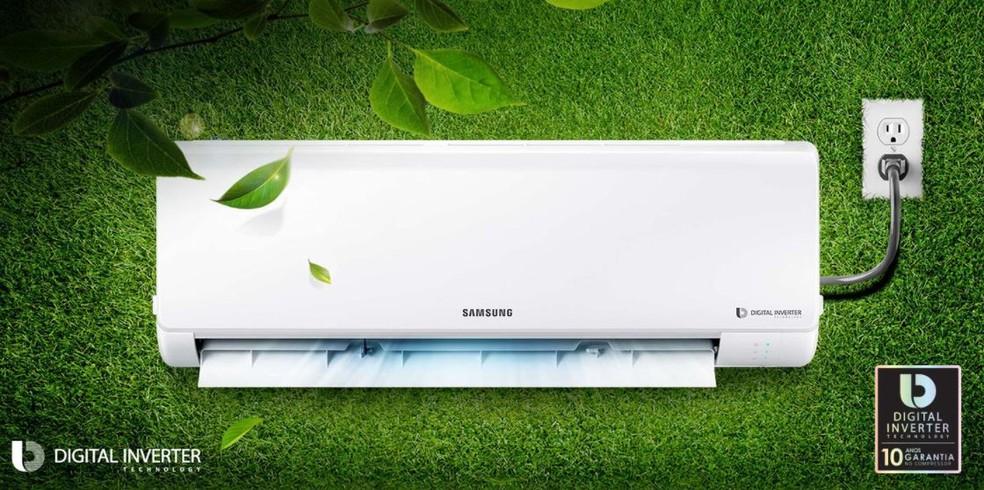 A Samsung é uma das marcas que oferecem modelos Inverter no Brasil — Foto: Divulgação/Samsung
