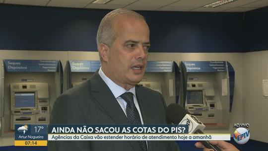 Agências da Caixa abrem mais cedo para saques do Fundo PIS-Pasep na região de Campinas