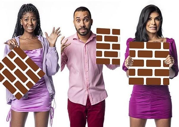 Camilla de Lucas, Gilberto e Pocah estão no paredão do 'BBB' 21 (Foto: Reprodução)