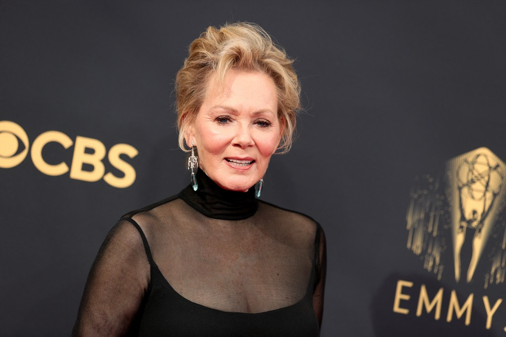 Jean Smart chega ao Emmy 2021 — Foto: Rich Fury/Getty Images North America/Getty Images via AFP