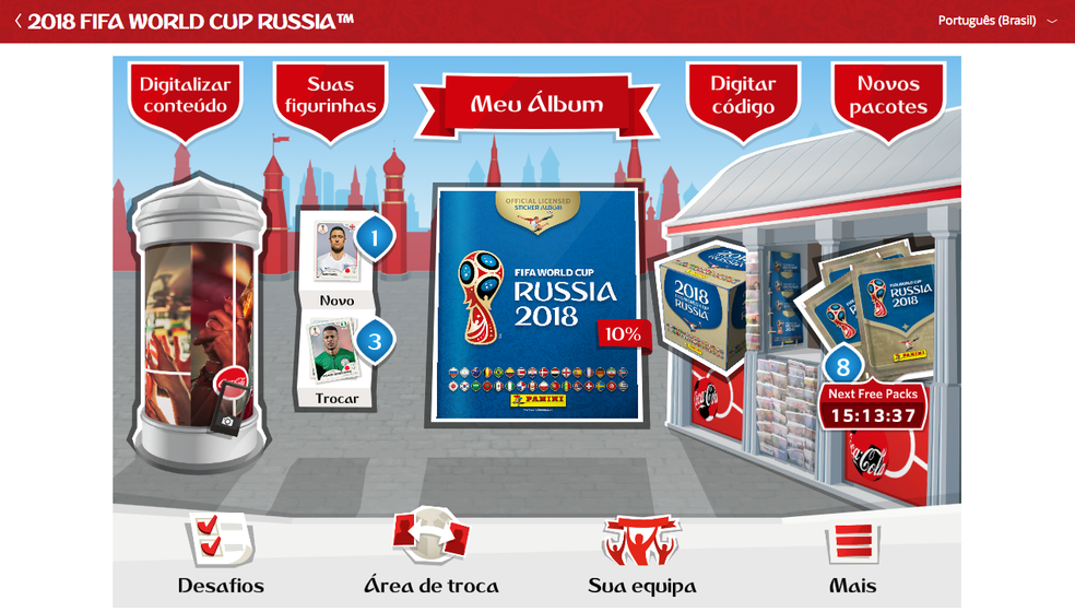 Acesse o site oficial do Álbum Virtual da Copa do Mundo 2018 (Foto: Reprodução/Felipe Vinha)