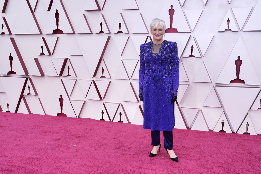 Glenn Close no Oscar 2021 — Foto: AP Photo/Chris Pizzello