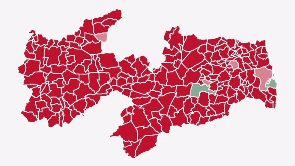 Fernando Haddad (PT) liderou em quase todas as cidades da Paraíba na votação do 2º turno — Foto: Reprodução/G1