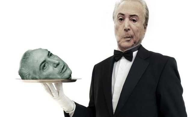 Michel Temer, cabeça na bandeja (Foto: Arte: Antonio Lucena)