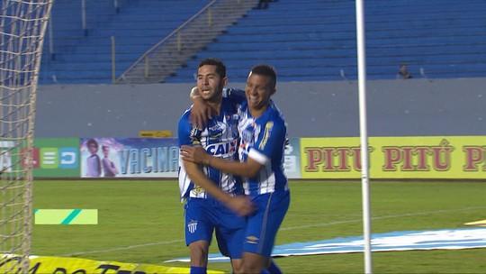 Os gols de Londrina 1 x 2 Avaí pela 16ª rodada da Série B do Brasileiro