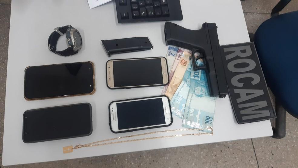 Homem de 27 anos praticou série de assaltos na Zona Norte de Natal — Foto: Sérgio Henrique Santos/Inter TV Cabugi