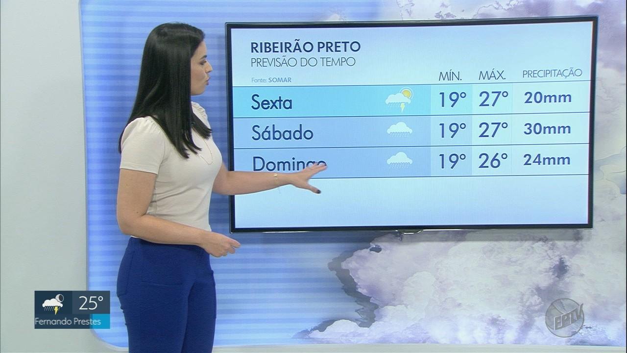 Veja a previsão do tempo para esta sexta-feira (26) na região de Ribeirão Preto