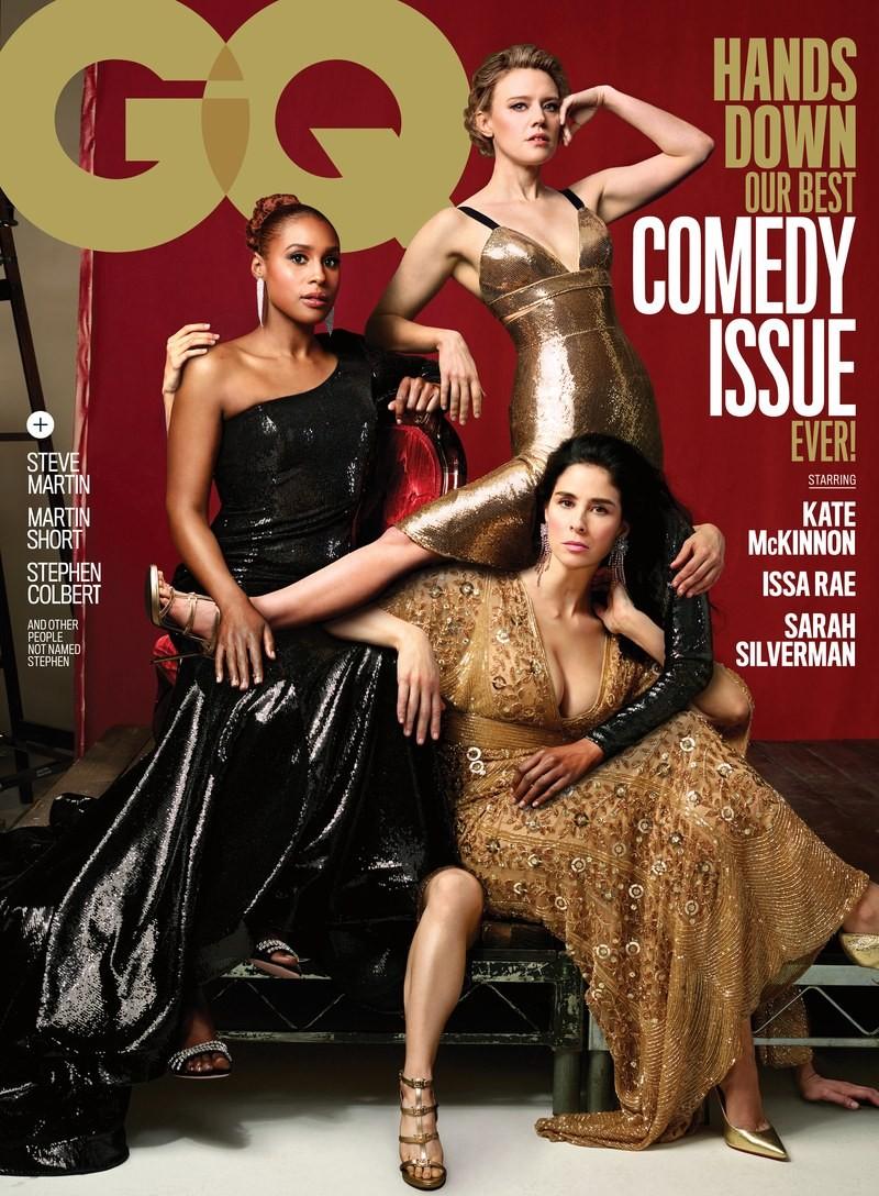 A edição de humor 2018 da GQ americana e seus 'erros' de edição de imagem (Foto: Reprodução/ Instagram)