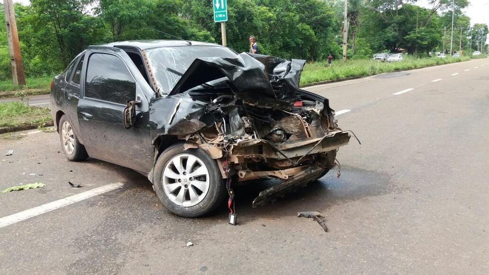 -  Acidente aconteceu durante   34;racha  34; na Rodovia JK, em Macapá  Foto: Jéssica Alves/G1