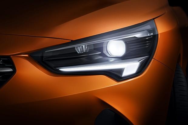 Farol de LED do Opel Corsa-e 2020 (Foto: Divulgação)
