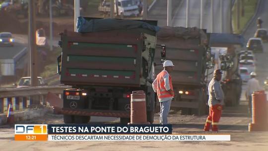 DER e Novacap fazem testes de qualidade na Ponte do Bragueto