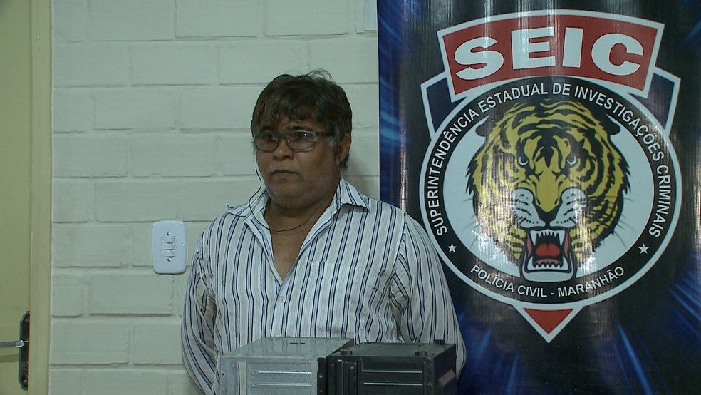 Fotografo José Carlos Mesquita Oliveira foi preso em Rosário (MA). (Foto: TV Mirante)