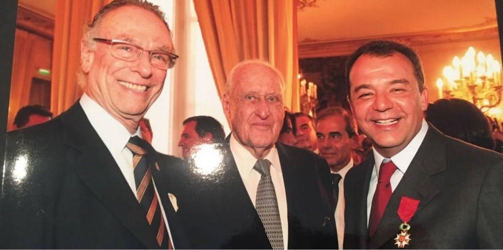 Nuzman, João Havelange e Sérgio Cabral juntos em Paris, em 2009 (Foto: Reprodução)