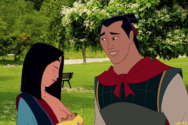 Mulan e o marido Li Shang (Foto: Walt Disney Studios / Loryn Brantz / Thinkstock / BuzzFeed)