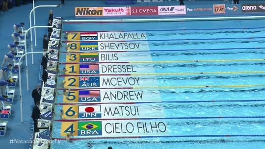 Cesar Cielo cresce e vai à final dos 50m livre no Mundial da China com o sexto melhor tempo