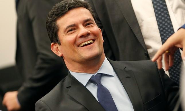 O então ministro Sergio Moro em audiência na Câmara