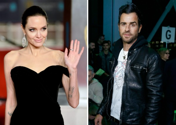 A atriz Angelina Jolie e o ator Justin Theroux (Foto: Getty Images)