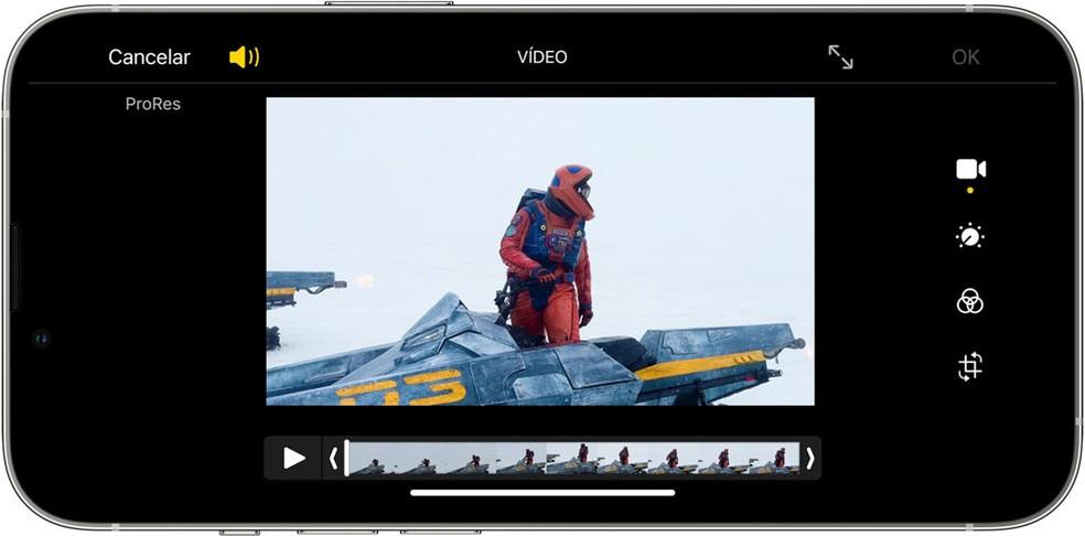 Gravação ProRes no iPhone 13 só suporta 4K para modelos com 256 GB ou mais — Foto: Apple/ Reprodução