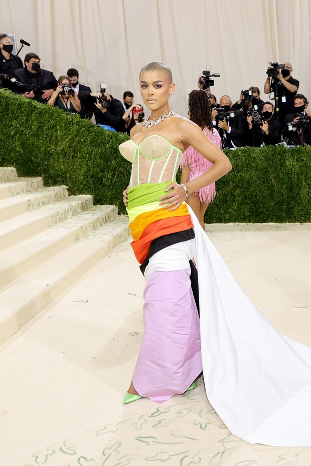 NEW YORK, NEW YORK - SEPTEMBER 13: Jordan Alexander attends The 2021 Met Gala Celebrating In America: A Lexicon Of Fashion at Metropolitan Museum of Art on September 13, 2021 in New York City. (Photo by Mike Coppola/Getty Images) (Foto: Getty Images)