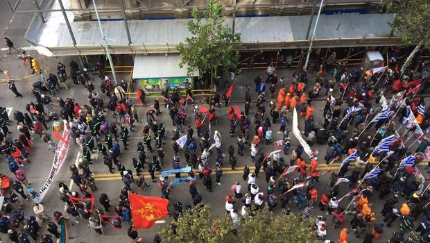 Conflito entre trabalhadores do setor de gás e a empresa Petrobras no país dura meses. (Foto: Marieta Cazarré/ Agência Brasil)
