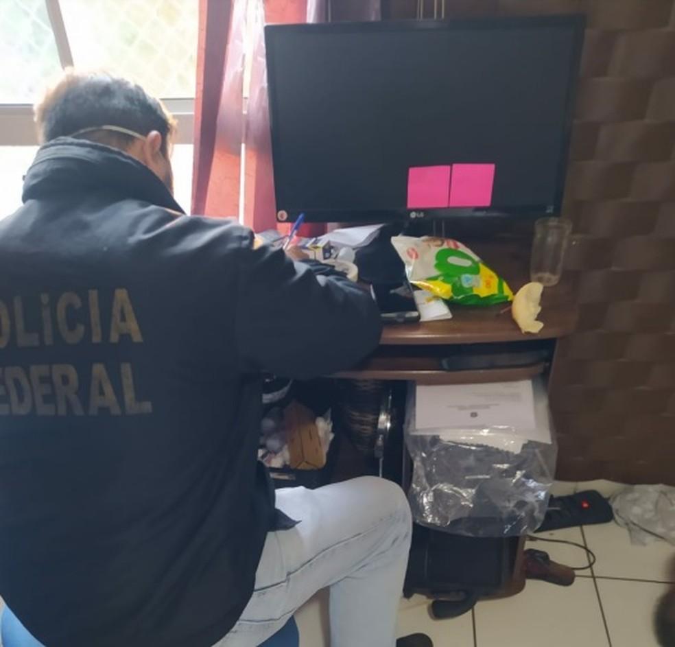 Três mandados de busca e apreensão foram cumpridos em Limeira — Foto: Divulgação/ Polícia Federal