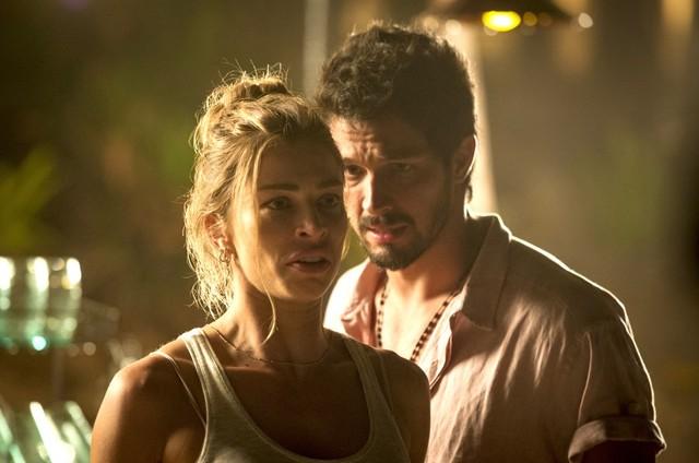 Paloma (Grazi Massafera) e Marcos (Romulo Estrela) (Foto: TV Globo)