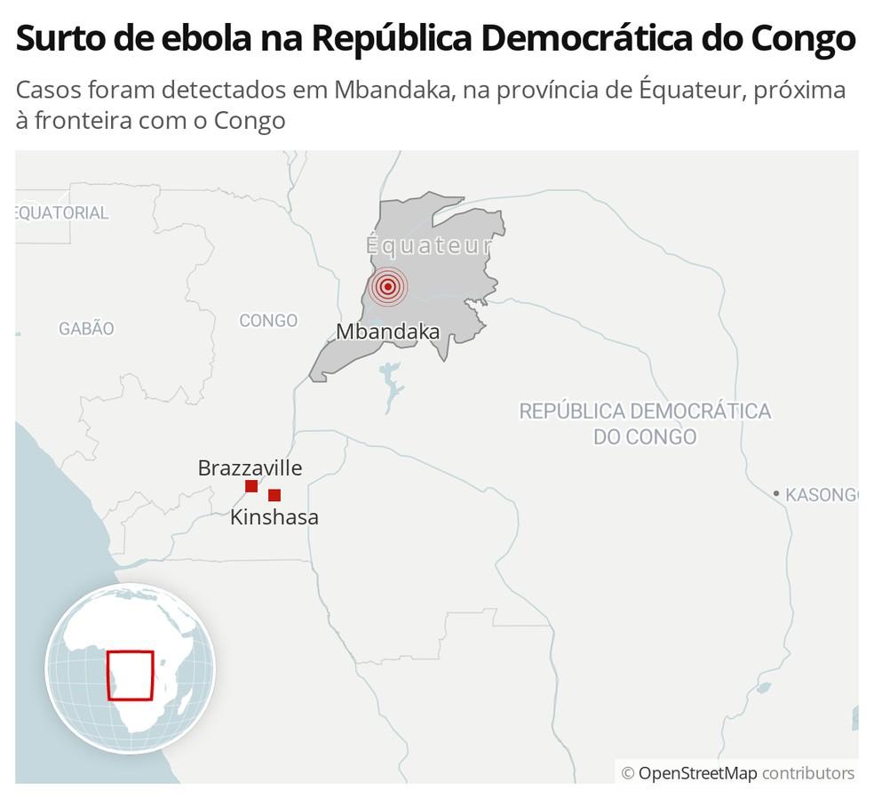 Surto de ebola na República Democrática do Congo — Foto: G1