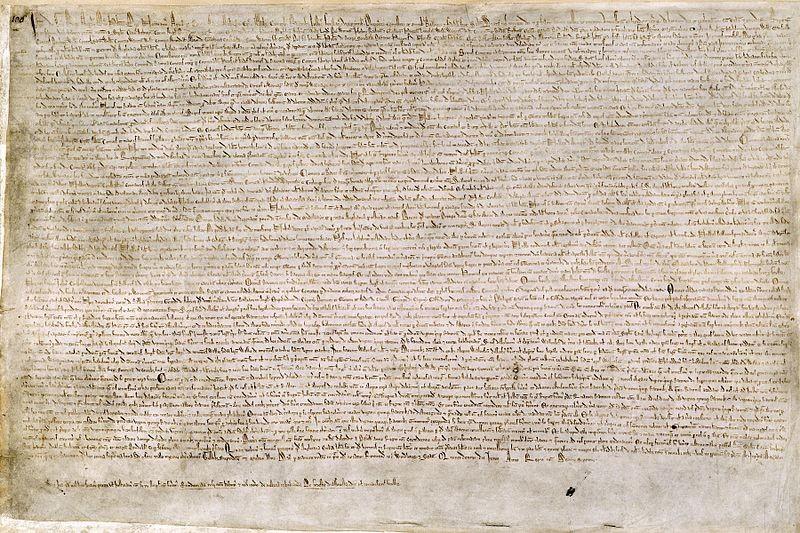 Uma das cópias da Magna Carta (Foto: Wikimedia Commons )