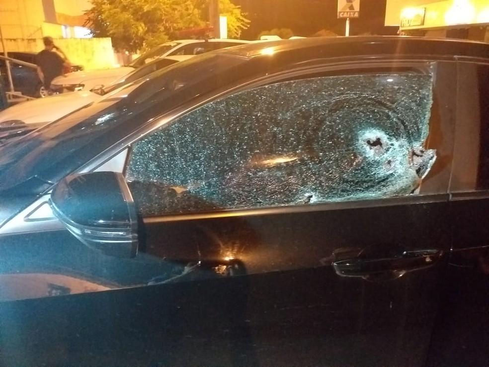 Delegado sofre tentativa de homicídio em Floriano, no Piauí — Foto: Aparecida Santana/ TV Clube