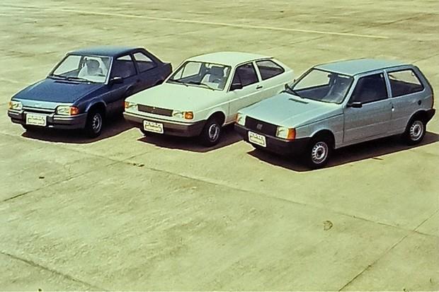 Hobby x Gol 1000 x Mille comparativo 1993 (Foto: Ricardo Novelli)