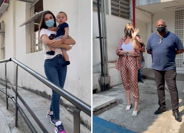 Livia Andrade é vista com seguranças no exame de DNA do filho de Pétala Barreiros e Marcos Araújo (Foto: Reprodução/ Instagram)