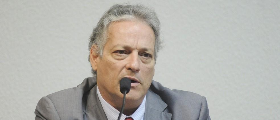 O candidato João Goulart Filho (PPL) (Foto: Pedro França/Agência Senado)
