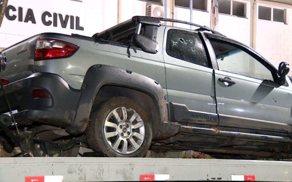 Carro apreendido após ação da Polícia Militar, em Campinas  (Foto: Reprodução/EPTV)