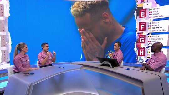 """Após choro, repórter questiona equilíbrio emocional de Neymar: """"É o maior desafio da carreira dele"""""""