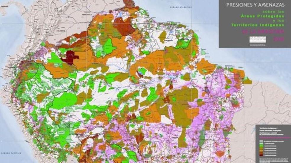 O portal Amazônia na Encruzilhada reúne mapas interativos, fotos, vídeos e estudos de casos sobre ameaças à Amazônia — Foto: Divulgação