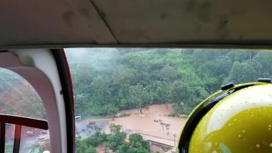 Temporal atinge Sabará, na Região Metropolitana de Belo Horizonte, e causa transtornos