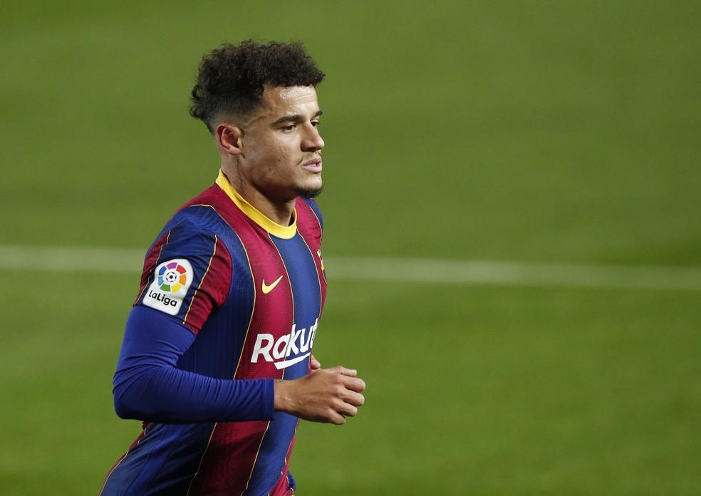 Philippe Coutinho em Barcelona x Levante — Foto: REUTERS/Albert Gea