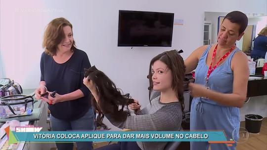 Vitória Strada revela truque de cabelão em 'Tempo de Amar'
