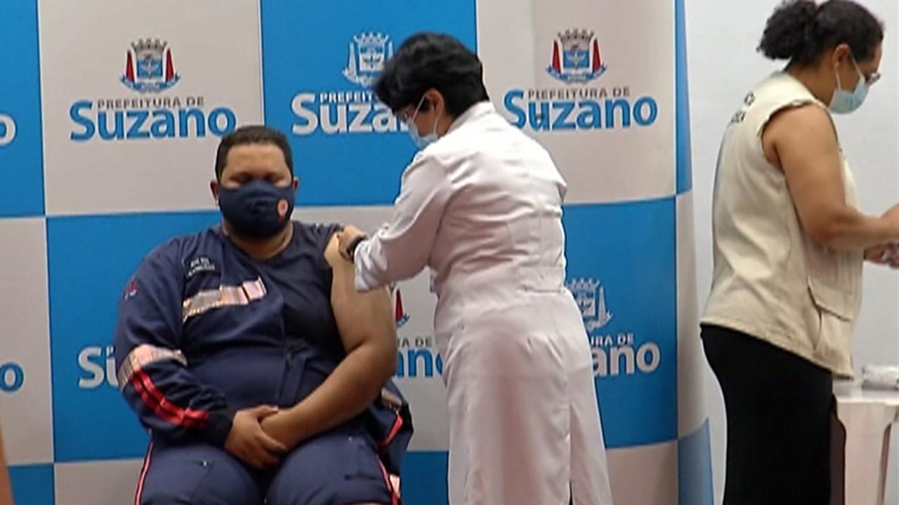 Suzano recebe doses e começa aplicação da vacina contra a Covid-19
