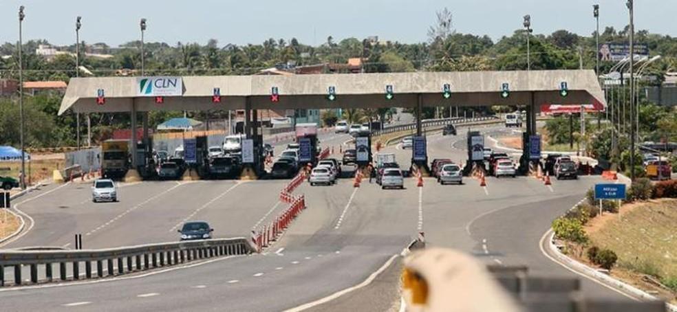 Tarifas do pedágio da BA-099 serão reajustados a partir de segunda-feira — Foto: Divulgação/Agerba