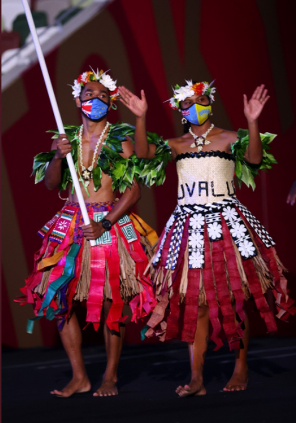 Delegação de Tuvalu — Foto: @olympic